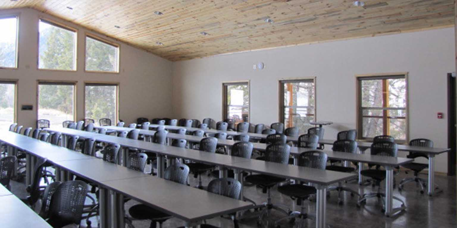 interior of a large classroom